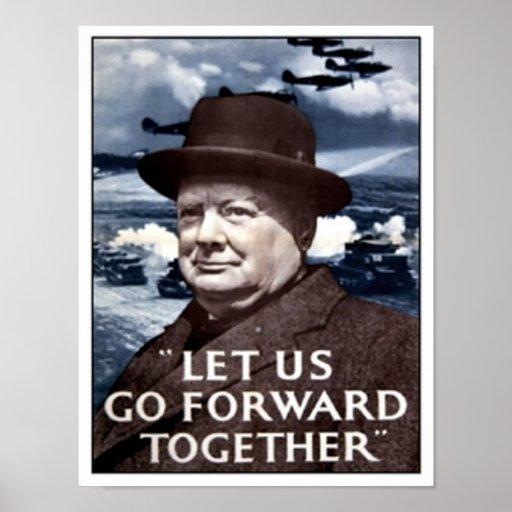 Vintage Let Us Go Forward Together Poster