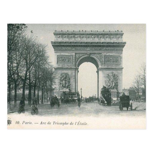 Vintage l'Etoile de Arco del Triunfo de París Tarjeta Postal