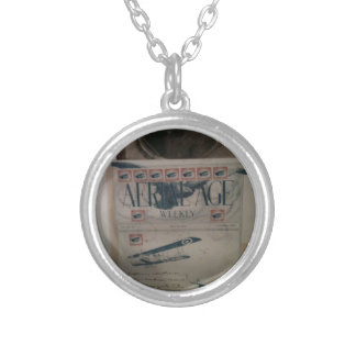 Vintage letter aviation history custom necklace