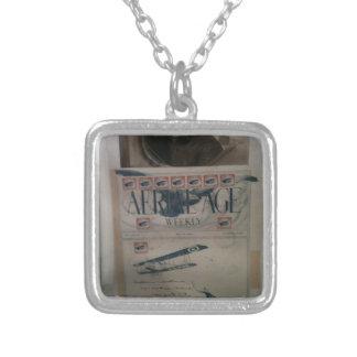 Vintage letter aviation history necklaces
