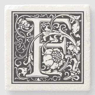 "Vintage Letter ""F"" Stone Coaster"