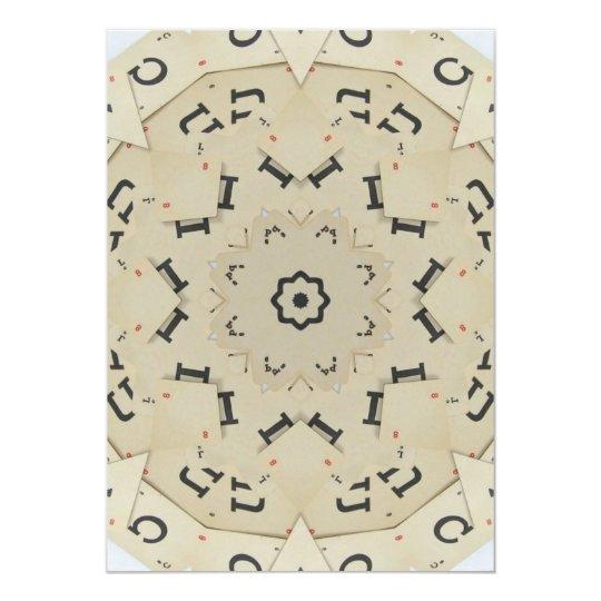 Vintage Letter Game Cards Mandala