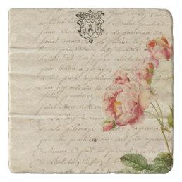 Vintage Letter Stone Trivet