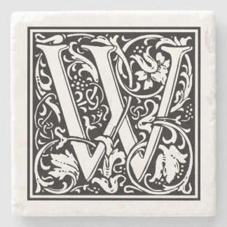 "Vintage Letter ""W"" Stone Coaster"