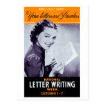 Vintage Letter Writing Post Card