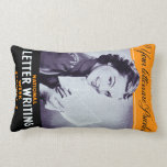 Vintage Letter Writing Throw Pillow