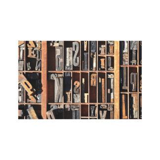 Vintage Letterpress Blocks Canvas Print