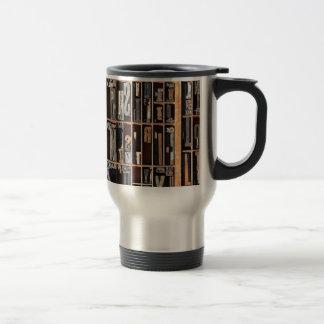 Vintage Letterpress Blocks Travel Mug