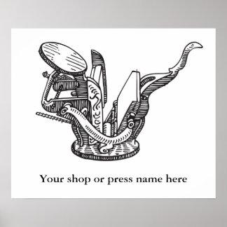 Vintage letterpress Sigwalt personalized poster