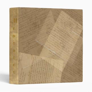 Vintage Letters Collage Notebook Journal Binder