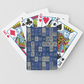 Vintage Letters Bicycle Playing Cards