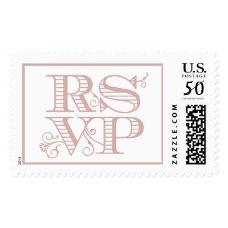 Vintage Letters RSVP Pink   Atelier Isabey Stamps
