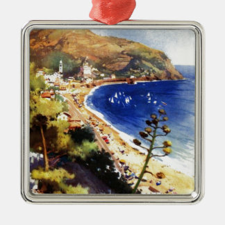Vintage Levanto Genova Italy Tourism Metal Ornament