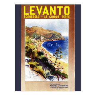 Vintage Levanto Genova Italy Tourism Postcard