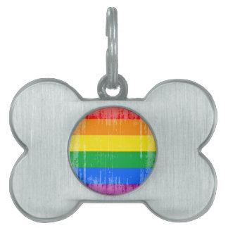 Vintage Lgbtq Pride.png Placa De Nombre De Mascota