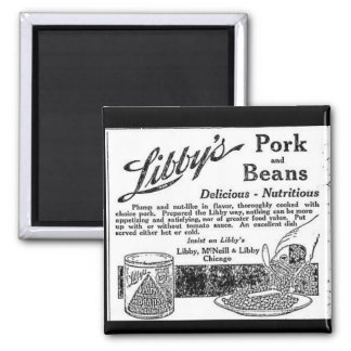 Vintage Libby's Pork & Beans Advertisement Magnet