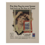 Vintage Liberty Bond Military Mother WW2 Poster