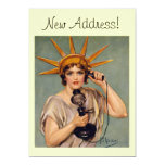 """Vintage Liberty Calling New Home Announcement Card 5"""" X 7"""" Invitation Card"""
