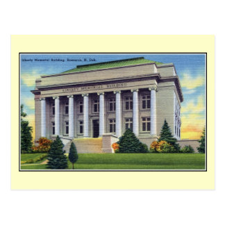 Vintage Liberty Memorial Building Bismarck Postcard