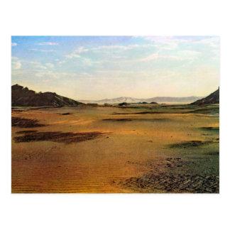 Vintage Libia, lecho de un río seco de la reproduc Postales