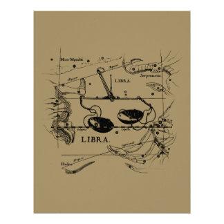 Vintage Libra Constellation Hevelius Style Flyer