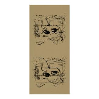 Vintage Libra Constellation Hevelius Style Rack Card
