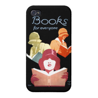 Vintage Library Ad Books For Everyone Cover For iPhone 4