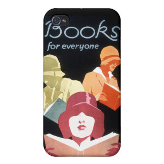Vintage Library Ad Books For Everyone iPhone 4 Cover