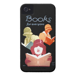 Vintage Library Ad Books For Everyone iPhone 4 Covers