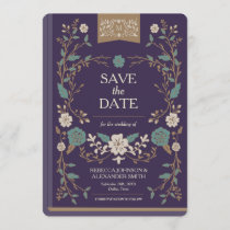 Vintage Library Book Save the Date