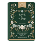 Vintage Library Book Save the Date 5x7 Paper Invitation Card