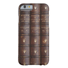 Vintage Library Books Effect Barely There Iphone 6 Case at Zazzle