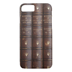 Vintage Library Books Effect Iphone 8/7 Case at Zazzle