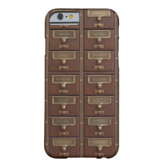 Vintage Library Card Catalog Drawers Barely There iPhone 6 Case