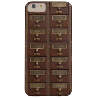 Vintage Library Card Catalog Drawers Barely There iPhone 6 Plus Case