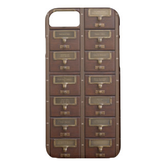 Vintage Library Card Catalog Drawers iPhone 7 Case