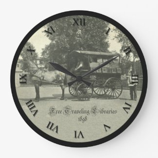 Vintage Library Clock