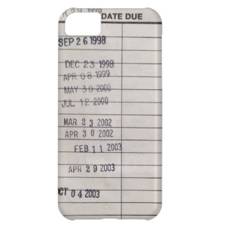Vintage Library Due Date Cards Case For iPhone 5C