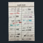 "Vintage Library Due Date Cards Hand Towel<br><div class=""desc"">Vintage Library Due Date Cards</div>"
