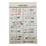 Vintage Library Due Date Cards Hand Towel<br><div class='desc'>Vintage Library Due Date Cards</div>