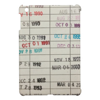 Vintage Library Due Date Cards iPad Mini Covers