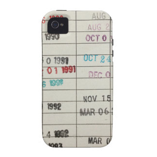 Vintage Library Due Date Cards iPhone 4/4S Cases