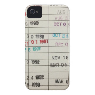 Vintage Library Due Date Cards iPhone 4 Cover