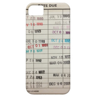 Vintage Library Due Date Cards iPhone 5 Case