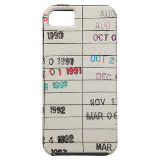 Vintage Library Due Date Cards iPhone 5 Cover