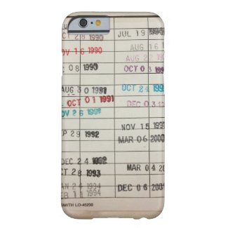 Vintage Library Due Date Cards iPhone 6 Case