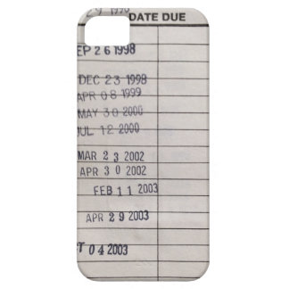 Vintage Library Due Date Cards iPhone SE/5/5s Case
