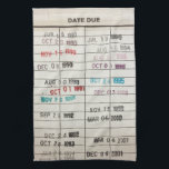 "Vintage Library Due Date Cards Kitchen Towel<br><div class=""desc"">Vintage Library Due Date Cards</div>"