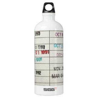 Vintage Library Due Date Cards SIGG Traveler 1.0L Water Bottle