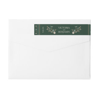 Vintage Library Wedding Wrap Around Label